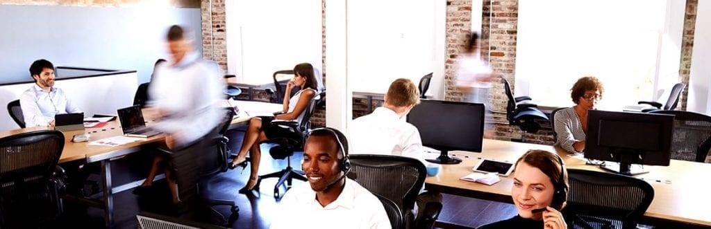 foto de um local de trabalho para ilustrar matéria sobre call center para e-commerce