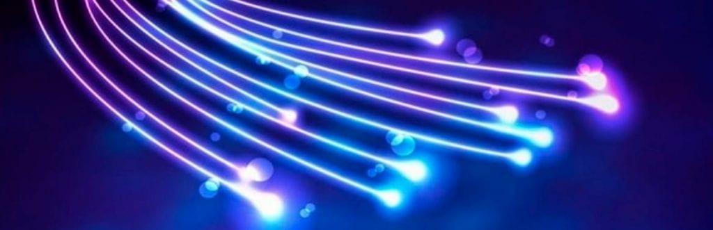 foto dos fios da internet fibra ótica
