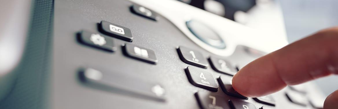 foto de um telefone fixo empresarial