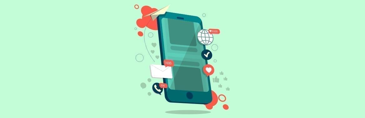 ilustração para texto sobre Internet móvel ilimitada