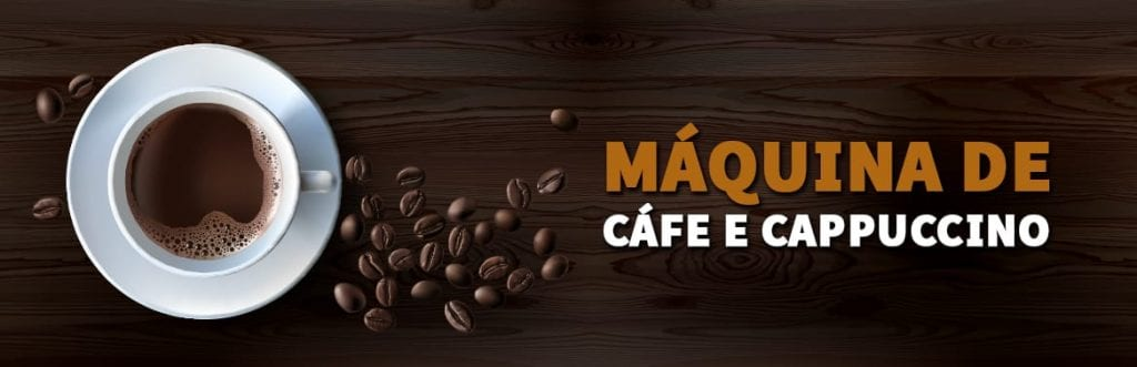 máquina de café e cappuccino